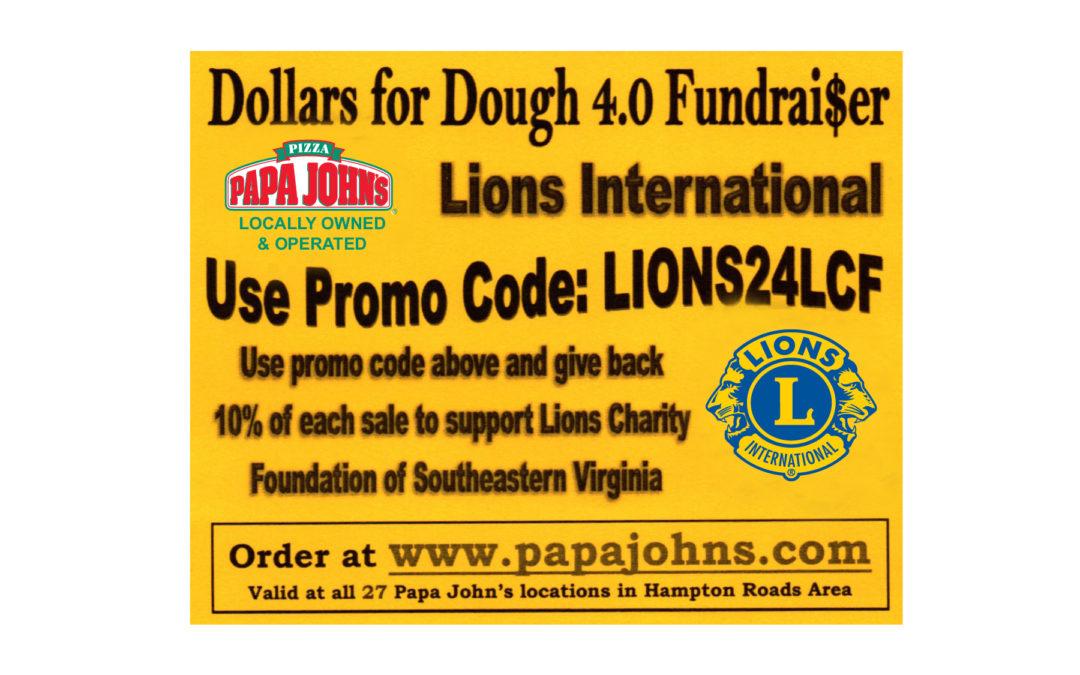 Papa John's Dollars for Dough 4.0 Fundrai$er