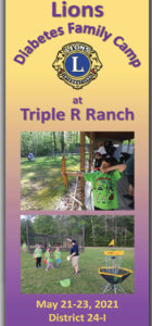 Round Up your WHOLE FAMILY for the LIONS DIABETES FAMILY CAMP at the TRIPLE R RANCH in Chesapeake, VA, May 21 – May 23